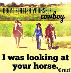 I was lookin at your horse