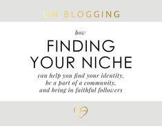 Finding A Niche