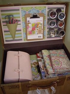 Have crafts will travel..in a suitcase!