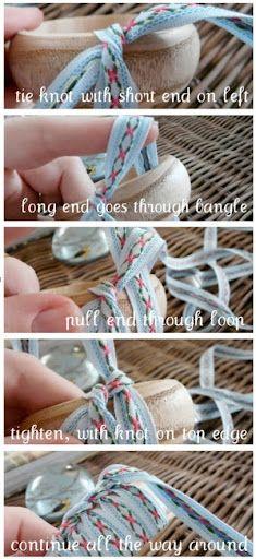 Ribbon covered Bangles