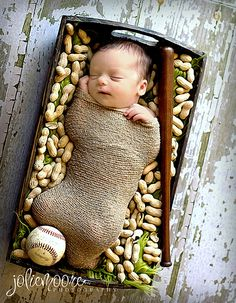 Irony was that this poor kid will grow up to be deathly allergic to peanuts. baseball pictures, newborn photographi, newborn baseball photography, knit newborn, basebal photographi, ship, babi, newborn wrap, baseball newborn photos