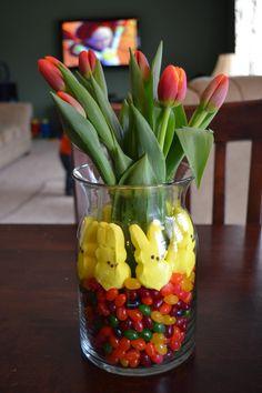 So easy as an Easter centerpiece!