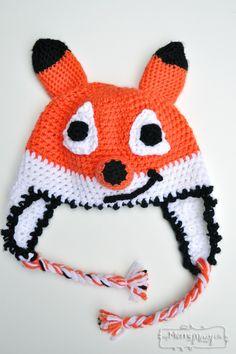 Crochet Friendly Fox Hat - Free Crochet Pattern for ALL sizes!