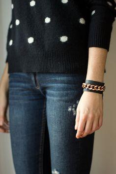 DIY leather cuff bracelet by Le.Fanciulle