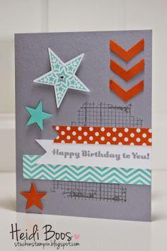 Stuck on Stampin': happy birthday stars