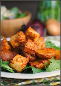 Lemon-Dijon Tofu and Potatoes #MeatlessMonday