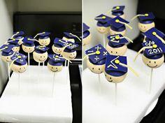 Smiley Graduation Cake Pops