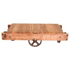 love this! Industrial Cart Coffee Table