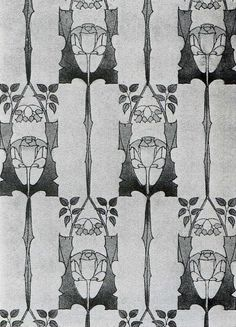 Whitwood' wallpaper design by Harry Napper, produced in 1906