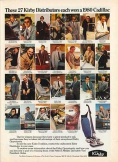 Great Kirby ad from the 1979 People Magazine showcasing Kirby distributors who won a 1980 Cadillac.