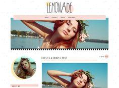 Lemonade Blogger Template