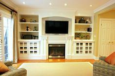 built ins for basement family room
