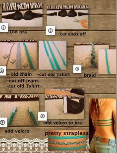Strapless bra DIY