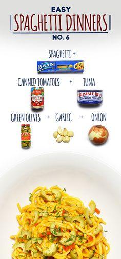 Spaghetti With Easy Puttanesca Sauce