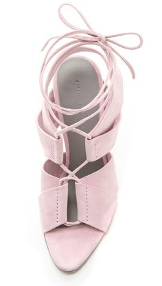 Love <3 Alexander Wang MALGOSIA LACE UP SANDALS