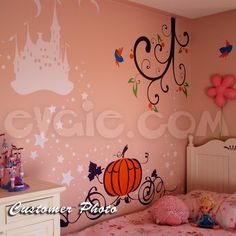 Magical Princess Castle Wall Decal – Children Vinyl Decals – evgie