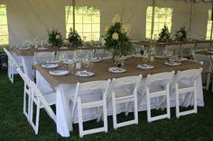 Family style rectangular table
