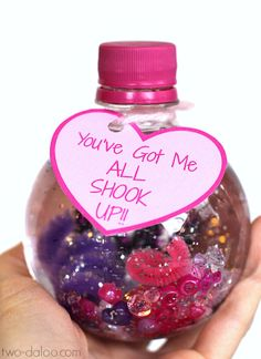 Easy Sensory Bottle Valentines with Free Printable