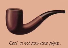 """Rene` Magrite, """"This Is Not a Pipe,"""" from The Treachery of Images, c.1929"""