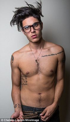 Hotter than ever! Glee's Samuel Larsen chops off his dreadlocks and poses shirtless in smouldering new photo shoot