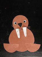 Easy Walrus Arctic Animal Winter Preschool Craft