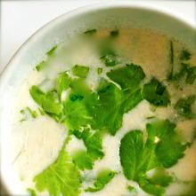 Thai Tom Yum Coconut Soup (raw)