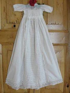 Antique 19th century Civil War Era Christening Gown ~ Amazing Lacework & Nr Mint Vintageblessings