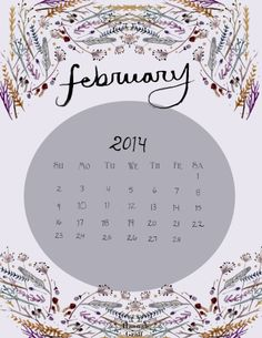 Download my 2014 February Calendar