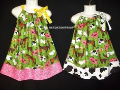 farm outfit barnyard dress Birthday Party baby girl cowgirl pink pig cow horse chicken alpaca size 3m 6m 9m 12m 18m 2t 3t 4t 5 6 toddler on Etsy, $25.50