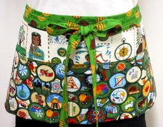 Girl+Scout+Merit+Badge+Zipper/Key+Clasp+Apron+by+ApronAddict,+$25.48