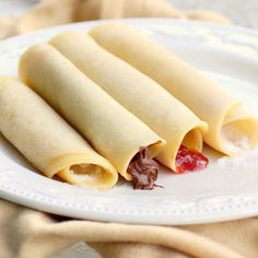 Jelly Roll Pancakes - this is family recipe. Easy and delicious. {The Girl Who Ate Everything}