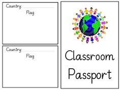 Passport Template Clip Art Passport to the world for