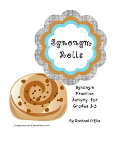 Synonym rolls sorting activity