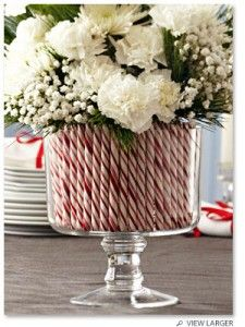 Candy flower vase - this would be cute with Valentine's candy too or halloween!