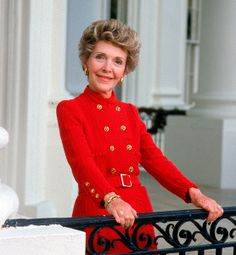 Star Power11 of 15Fresh from an acting career in Los Angeles, Nancy Reagan brought a touch of Hollywood style into the White House. Wadlington says that Reagan frequently wore graceful and elegant creations by her favorite designers, Oscar de la Renta and Bill Blass, typically in her trademark color, which became known as Nancy Reagan Red.