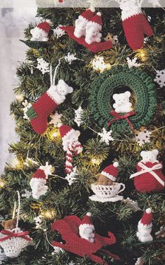 Christmas Ornament Crochet Patterns - 17 Designs