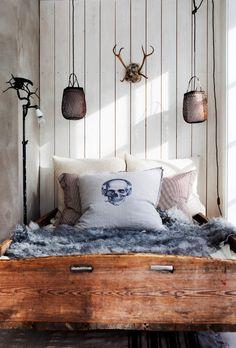 skull skull pillow
