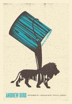 Andrew Bird gig poster