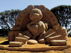 Mickey made from sand