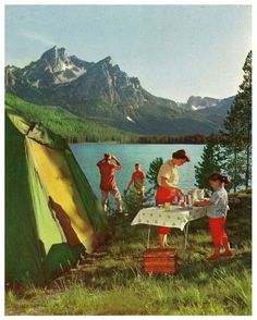 Once upon a time families actually did things together...other than sit around a table with their phones/video games/televisions...1940's camping