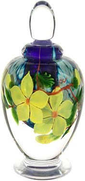 Perfume bottle created and hand-blown by Mayauel Ward