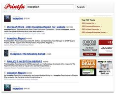 PrintFu : Moteur de recherche PDF, recherche libre, téléchargement PDF
