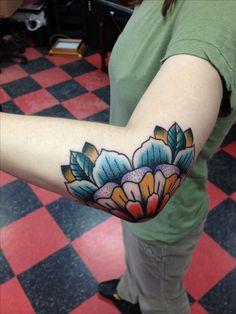 Elbow Mandala Traditional Tattoo, totally getting something like this.