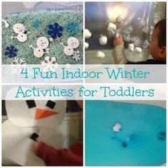 4 Fun Indoor Winter Activities for Toddlers!