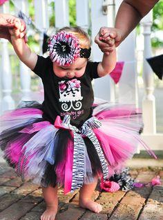 Zebra Tutu Set for baby, infant, toddler girls