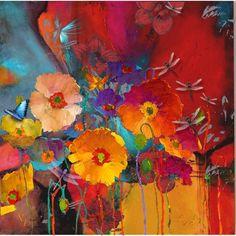 wallpap idea, summer bloom, iphone wallpaper, phone wallpapers, color, art, poppi, blues, flower