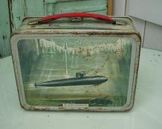 Vintage 1960 Metal Thermos Submarine Lunchbox by honeystreasures. $90.00, via Etsy.