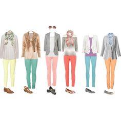Love bright skinny jeans!