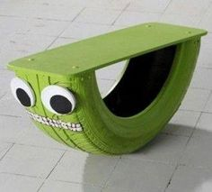 Great way to recycle an old tyre into fun for the kids :)