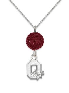 Ohio State Buckeye Ovation Sterling Silver Necklace